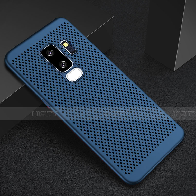 Handyhülle Hülle Kunststoff Schutzhülle Punkte Loch Tasche für Samsung Galaxy S9 Plus Blau Plus