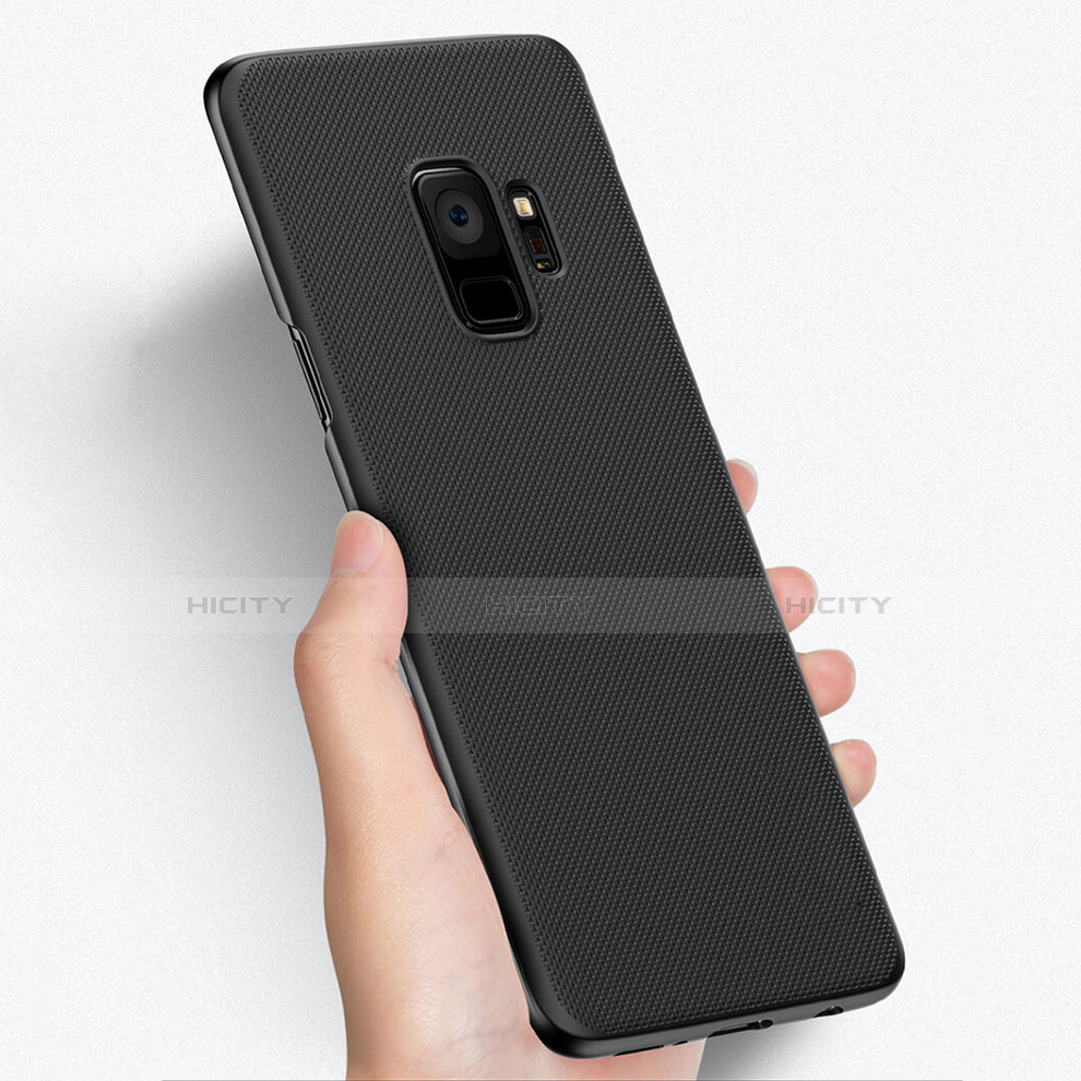 Handyhülle Hülle Kunststoff Schutzhülle Punkte Loch W01 für Samsung Galaxy S9 Schwarz Plus