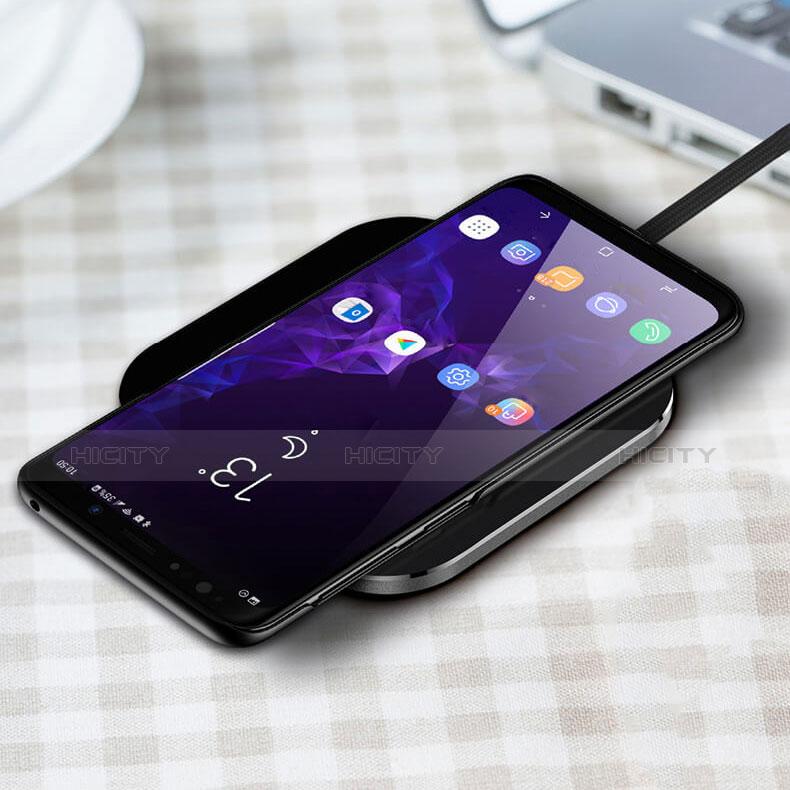 Handyhülle Hülle Kunststoff Schutzhülle Punkte Loch W01 für Samsung Galaxy S9 Schwarz groß