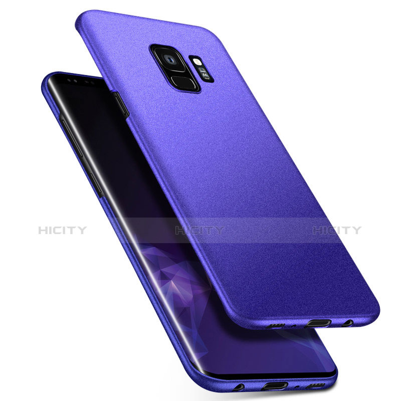Handyhülle Hülle Kunststoff Schutzhülle Tasche Matt M08 für Samsung Galaxy S9 Blau Plus