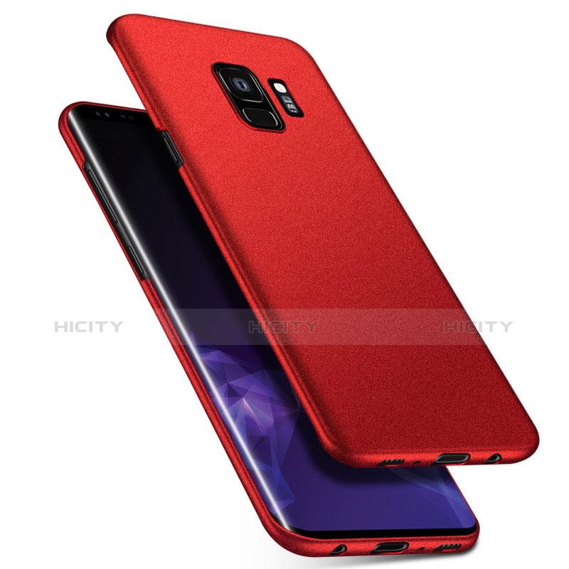 Handyhülle Hülle Kunststoff Schutzhülle Tasche Matt M08 für Samsung Galaxy S9 Rot