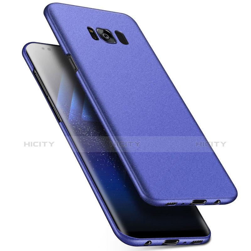 Handyhülle Hülle Kunststoff Schutzhülle Tasche Matt M17 für Samsung Galaxy S8 Blau