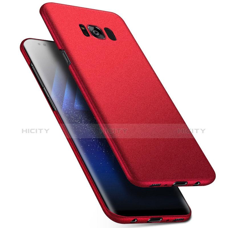 Handyhülle Hülle Kunststoff Schutzhülle Tasche Matt M17 für Samsung Galaxy S8 Rot Plus