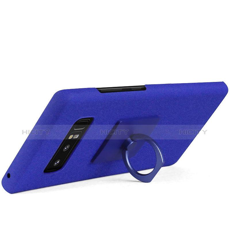 Handyhülle Hülle Kunststoff Schutzhülle Tasche Matt mit Fingerring Ständer A01 für Samsung Galaxy Note 8 groß