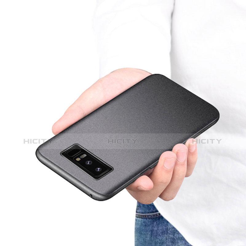 Handyhülle Hülle Kunststoff Schutzhülle Tasche Matt P01 für Samsung Galaxy Note 8 Duos N950F groß