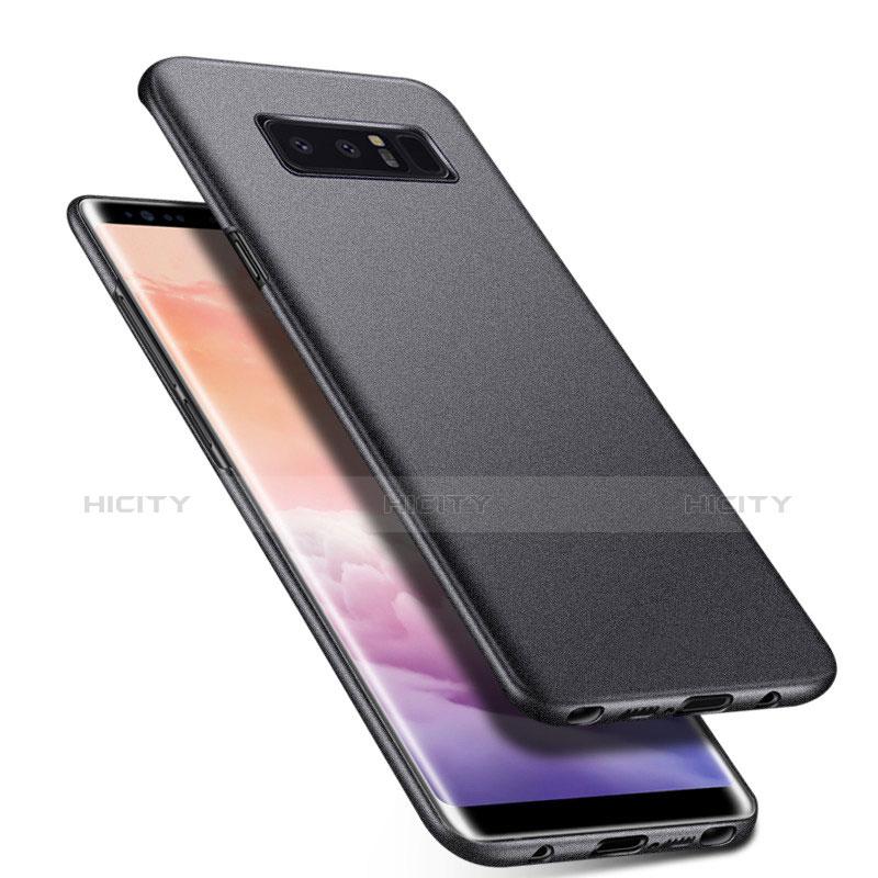 Handyhülle Hülle Kunststoff Schutzhülle Tasche Matt P01 für Samsung Galaxy Note 8 Grau Plus