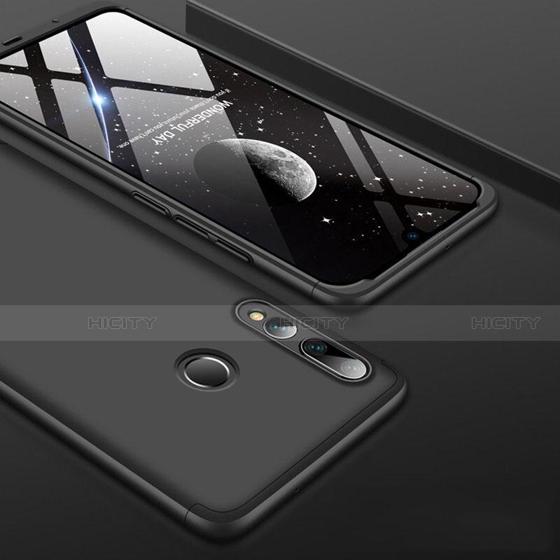 Handyhülle Hülle Kunststoff Schutzhülle Tasche Matt Vorder und Rückseite 360 Grad für Huawei Honor 20 Lite Schwarz Plus