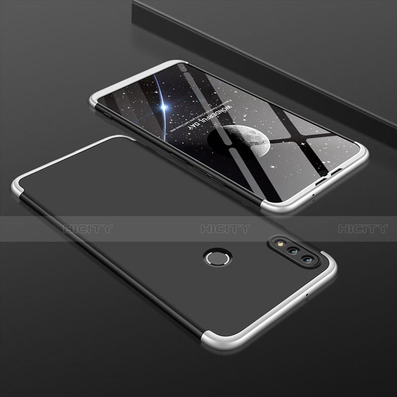 Handyhülle Hülle Kunststoff Schutzhülle Tasche Matt Vorder und Rückseite 360 Grad für Huawei Honor 8X Silber und Schwarz Plus