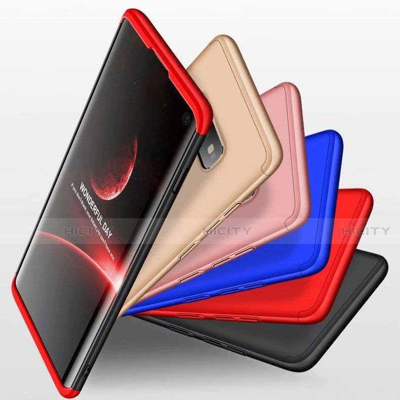 Handyhülle Hülle Kunststoff Schutzhülle Tasche Matt Vorder und Rückseite 360 Grad für Samsung Galaxy S10e groß