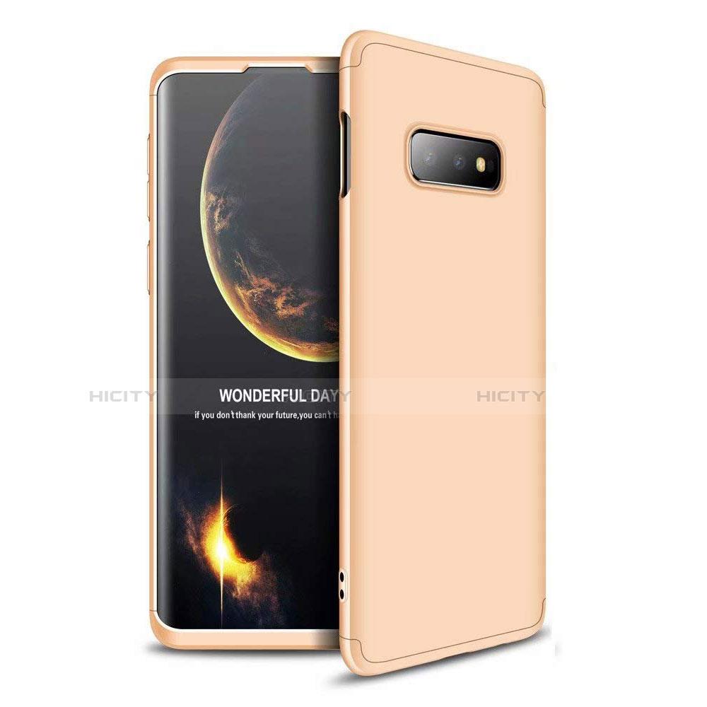 Handyhülle Hülle Kunststoff Schutzhülle Tasche Matt Vorder und Rückseite 360 Grad für Samsung Galaxy S10e Gold Plus