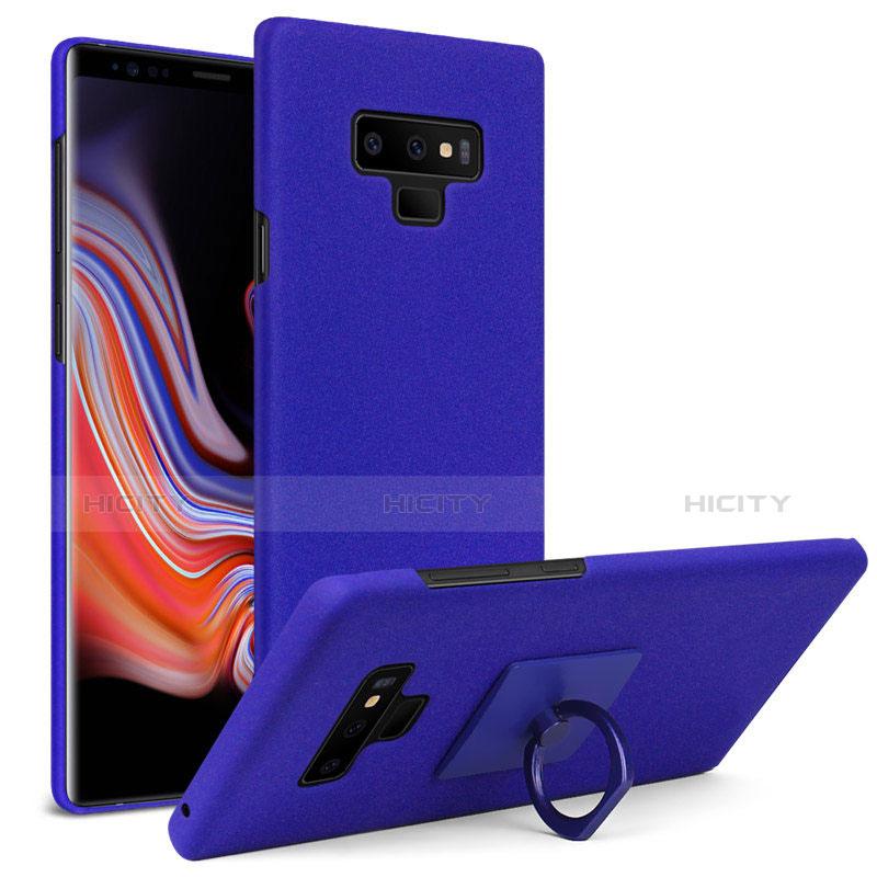 Handyhülle Hülle Kunststoff Schutzhülle Treibsand mit Fingerring Ständer für Samsung Galaxy Note 9 Blau Plus