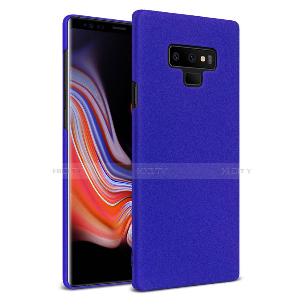 Handyhülle Hülle Kunststoff Schutzhülle Treibsand mit Fingerring Ständer für Samsung Galaxy Note 9 Blau groß