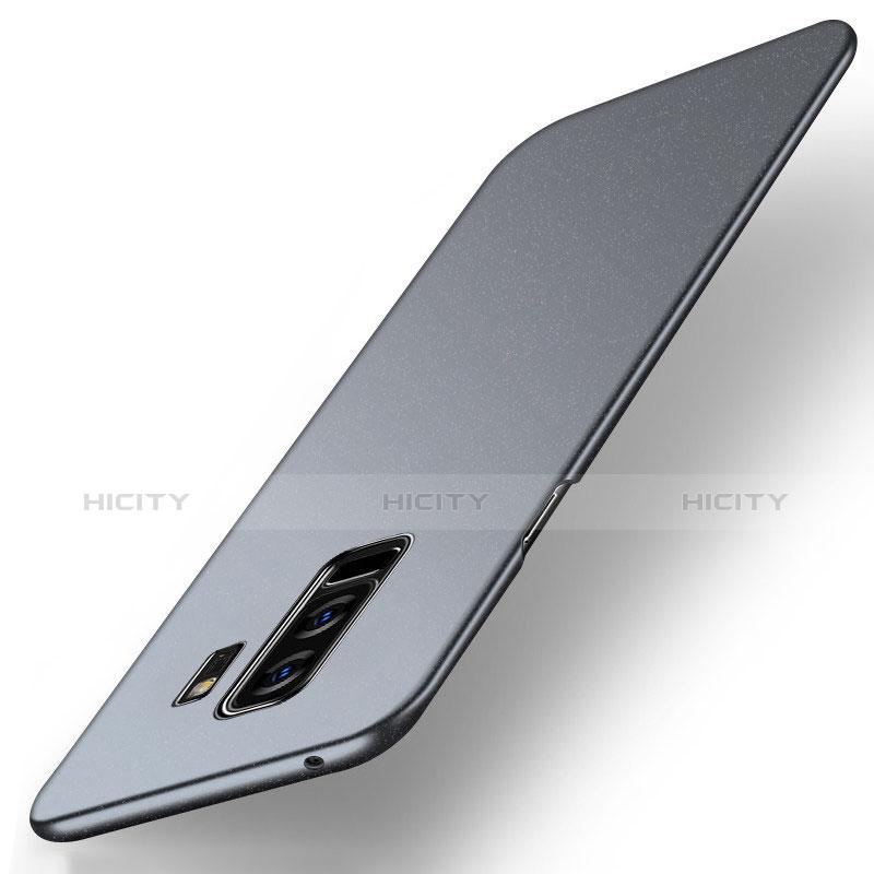 Handyhülle Hülle Kunststoff Schutzhülle Treibsand Q01 für Samsung Galaxy S9 Plus Grau groß