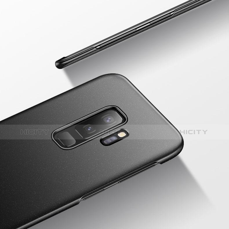 Handyhülle Hülle Kunststoff Schutzhülle Treibsand Q02 für Samsung Galaxy S9 Plus Schwarz groß