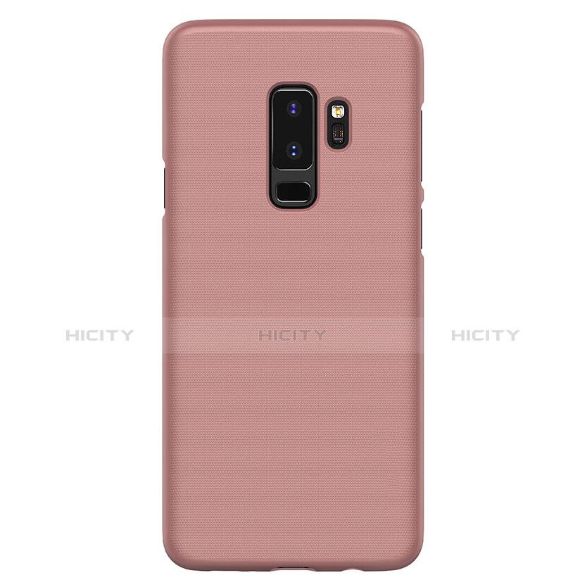 Handyhülle Hülle Kunststoff Tasche Matt M02 für Samsung Galaxy S9 Plus Rosegold groß