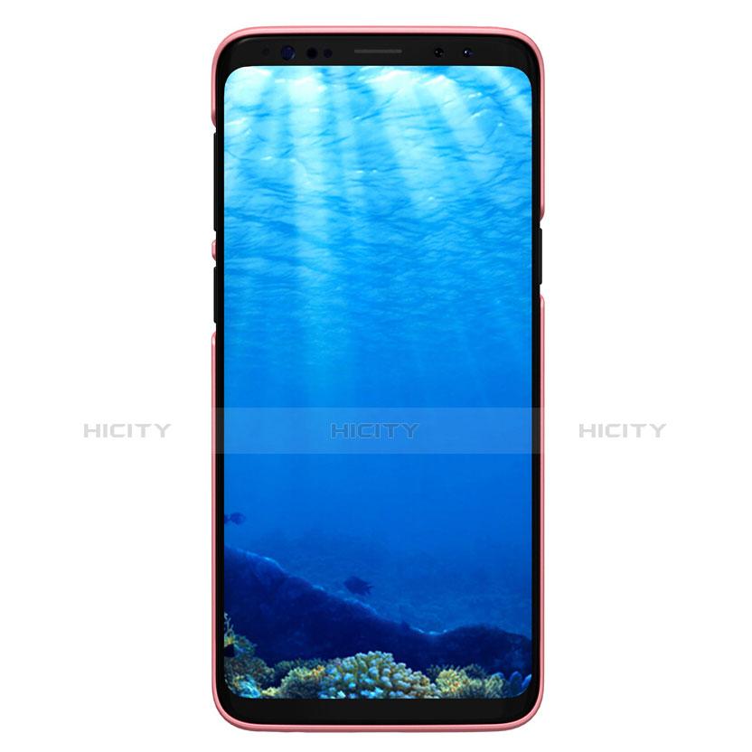 Handyhülle Hülle Kunststoff Tasche Matt M09 für Samsung Galaxy S9 Rosegold groß