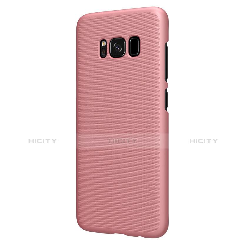 Handyhülle Hülle Kunststoff Tasche Matt P01 für Samsung Galaxy S8 Plus Rosegold groß