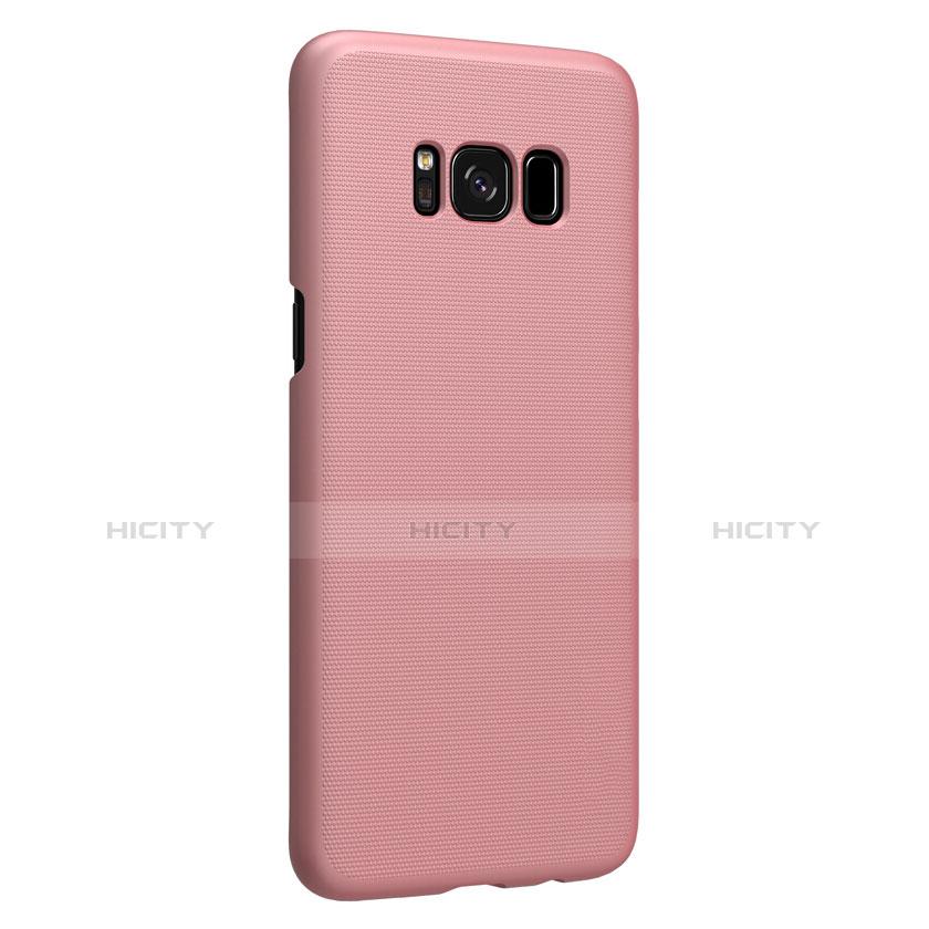 Handyhülle Hülle Kunststoff Tasche Matt P01 für Samsung Galaxy S8 Rosegold groß
