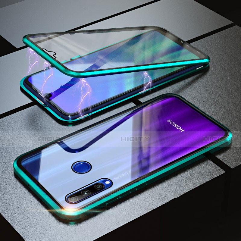 Handyhülle Hülle Luxus Aluminium Metall Rahmen Spiegel 360 Grad Tasche für Huawei Honor 20 Lite Grün Plus