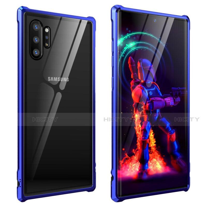 Handyhülle Hülle Luxus Aluminium Metall Rahmen Spiegel 360 Grad Tasche G01 für Samsung Galaxy Note 10 Plus 5G groß