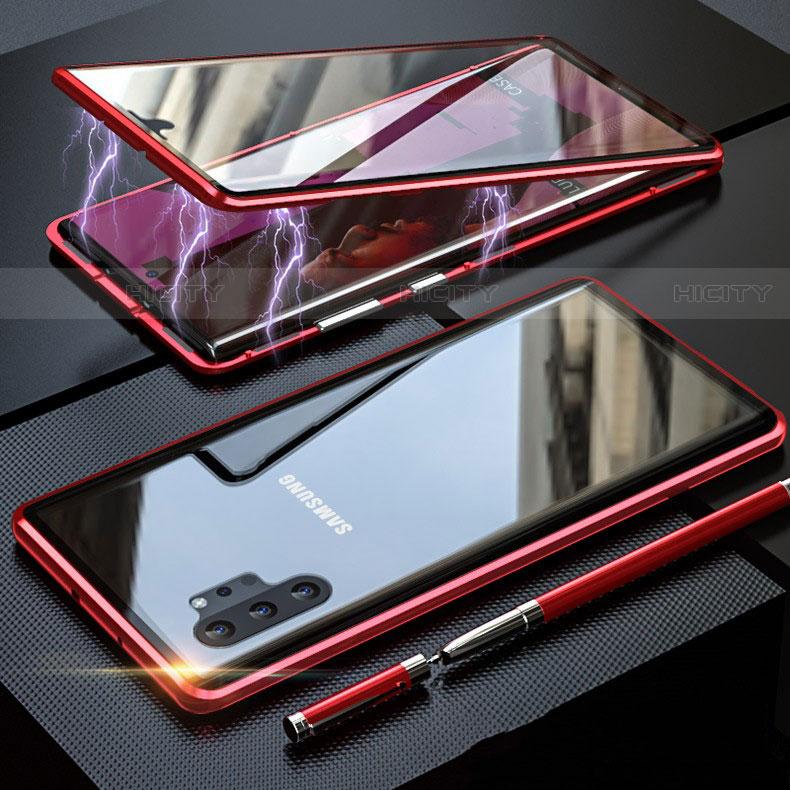 Handyhülle Hülle Luxus Aluminium Metall Rahmen Spiegel 360 Grad Tasche M01 für Samsung Galaxy Note 10 Plus 5G groß