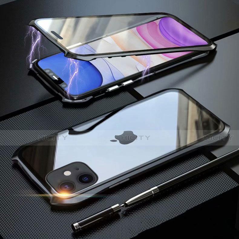 Handyhülle Hülle Luxus Aluminium Metall Rahmen Spiegel 360 Grad Tasche M06 für Apple iPhone 11 groß