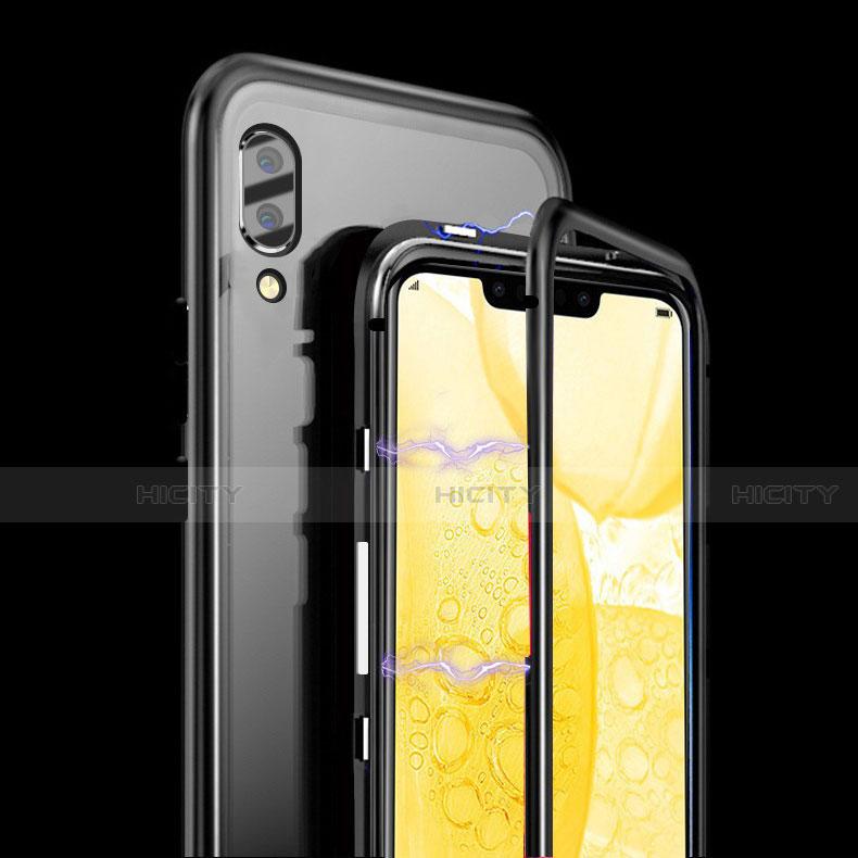 Handyhülle Hülle Luxus Aluminium Metall Rahmen Spiegel Tasche für Huawei Honor 8X groß