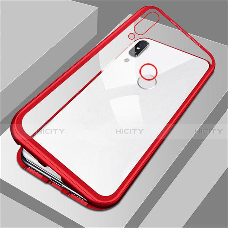 Handyhülle Hülle Luxus Aluminium Metall Rahmen Spiegel Tasche für Huawei Honor 8X Rot Plus
