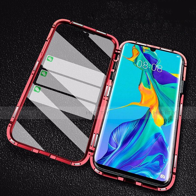 Handyhülle Hülle Luxus Aluminium Metall Rahmen Spiegel Tasche M02 für Huawei P30 Pro groß