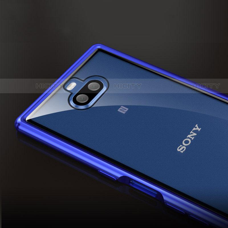 Handyhülle Hülle Luxus Aluminium Metall Rahmen Tasche für Sony Xperia 10 Plus groß