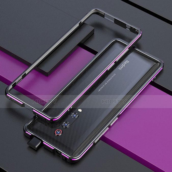 Handyhülle Hülle Luxus Aluminium Metall Rahmen Tasche für Xiaomi Mi 9T Violett Plus