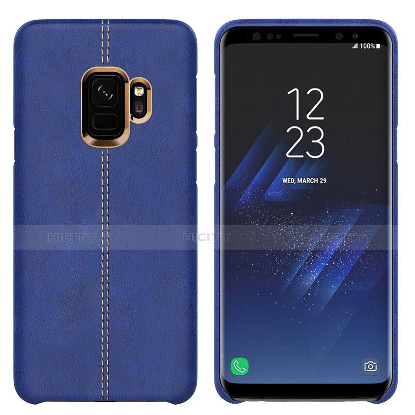 Handyhülle Hülle Luxus Leder Schutzhülle für Samsung Galaxy S9 Blau Plus