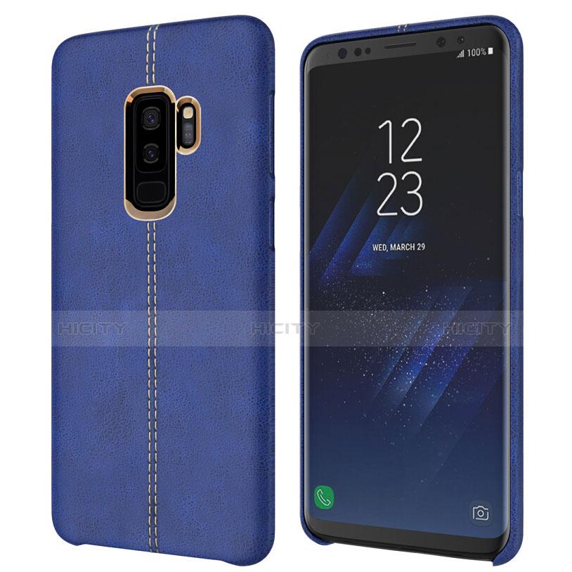 Handyhülle Hülle Luxus Leder Schutzhülle für Samsung Galaxy S9 Plus Blau Plus