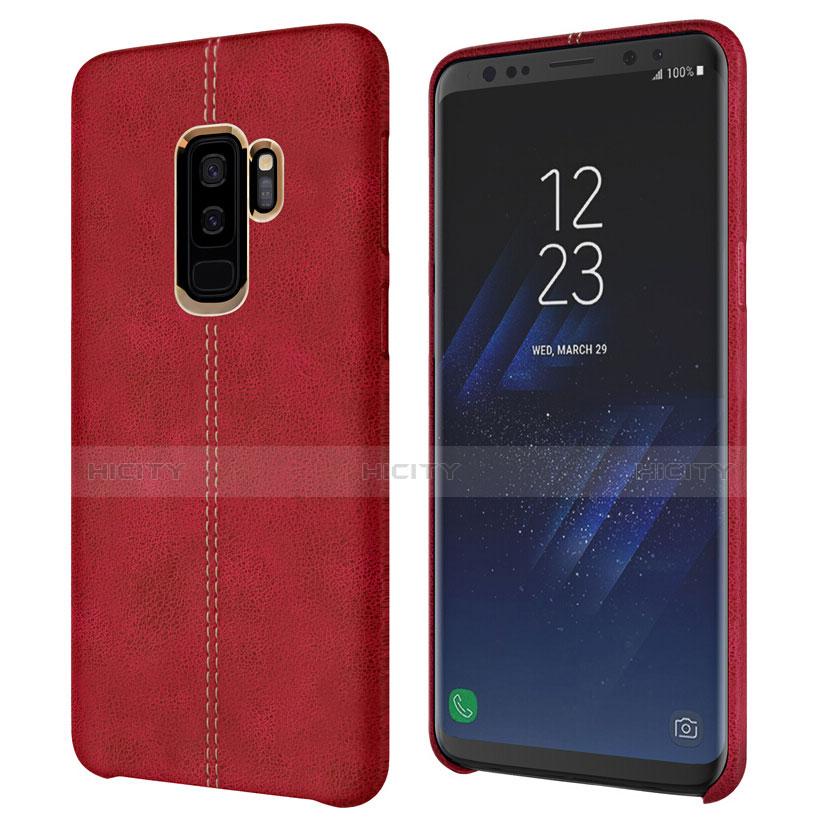 Handyhülle Hülle Luxus Leder Schutzhülle für Samsung Galaxy S9 Plus Rot Plus
