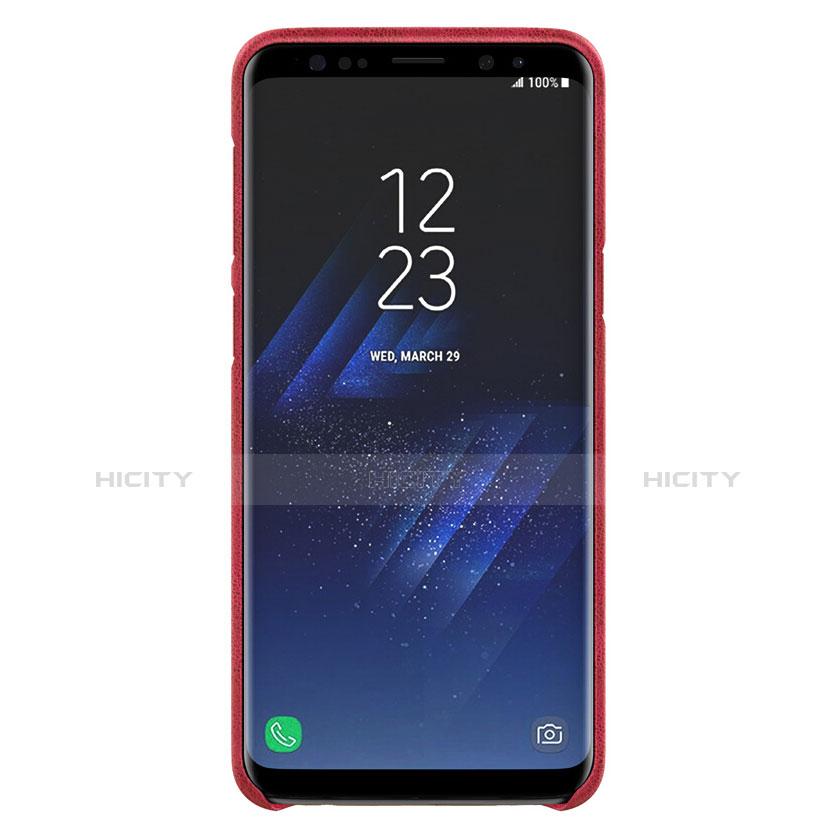Handyhülle Hülle Luxus Leder Schutzhülle für Samsung Galaxy S9 Plus Rot groß