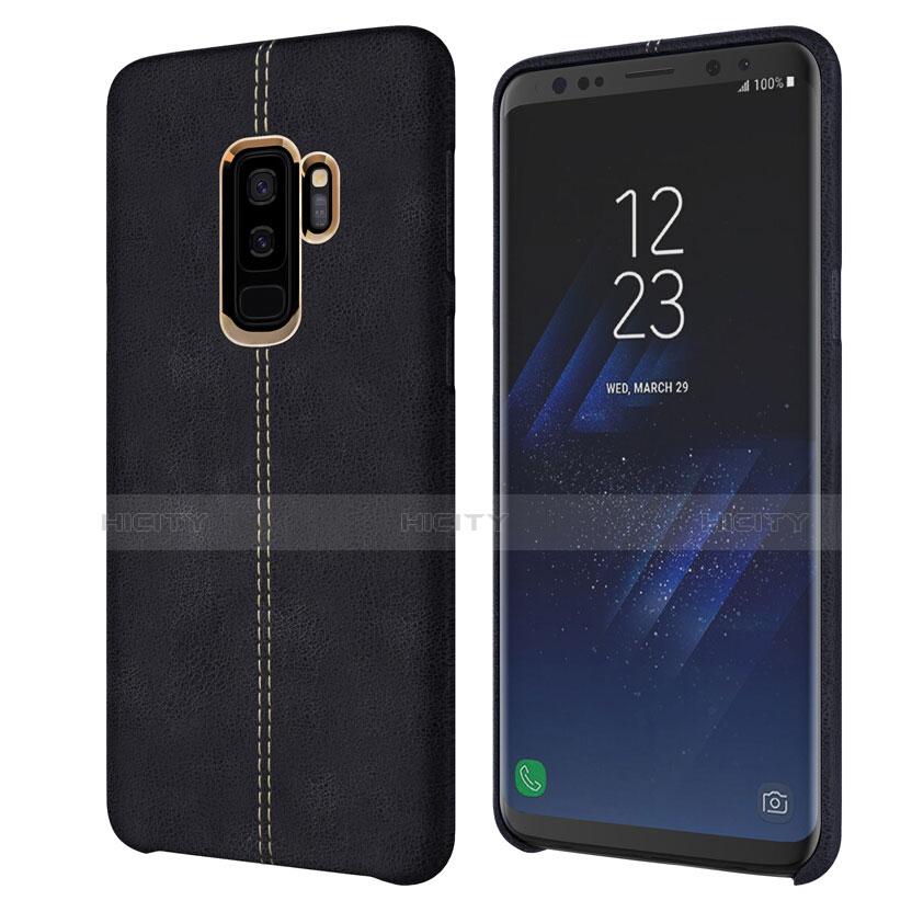 Handyhülle Hülle Luxus Leder Schutzhülle für Samsung Galaxy S9 Plus Schwarz Plus