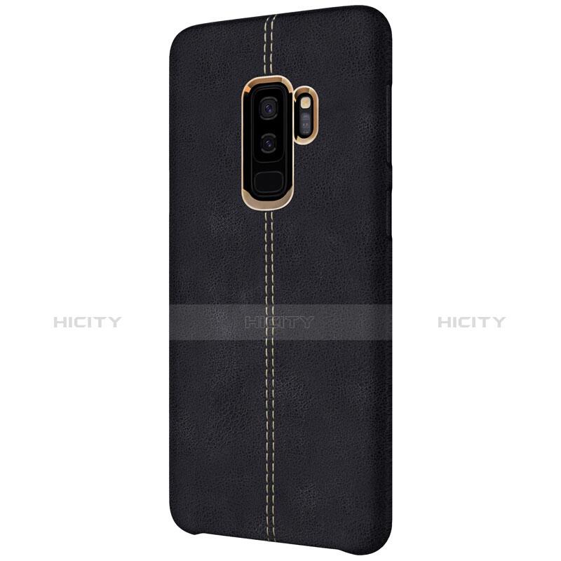Handyhülle Hülle Luxus Leder Schutzhülle für Samsung Galaxy S9 Plus Schwarz groß