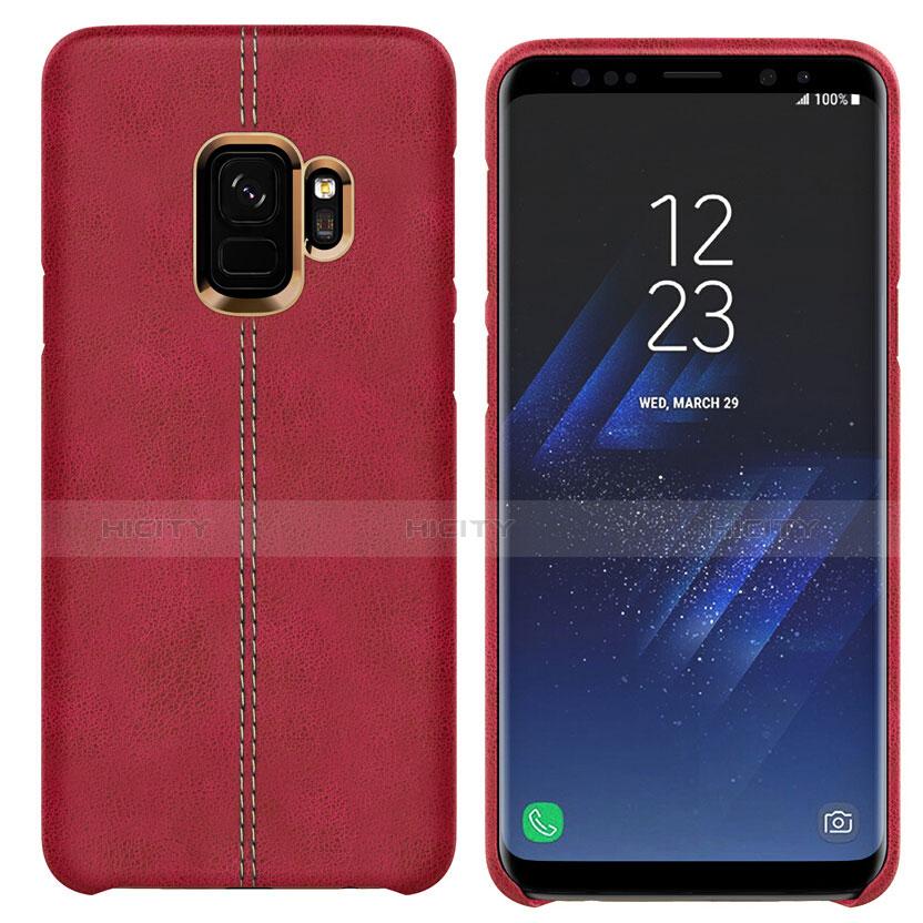 Handyhülle Hülle Luxus Leder Schutzhülle für Samsung Galaxy S9 Rot Plus