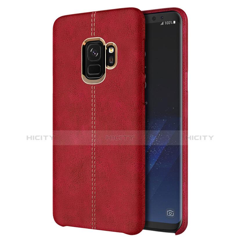 Handyhülle Hülle Luxus Leder Schutzhülle für Samsung Galaxy S9 Rot groß