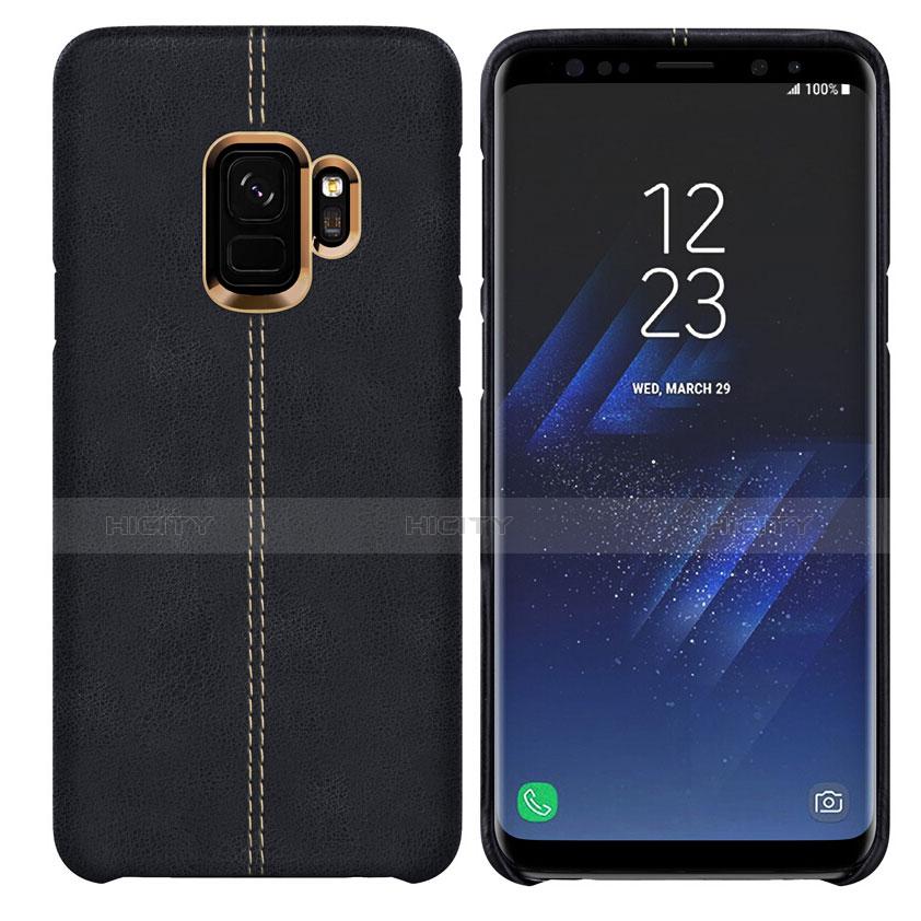 Handyhülle Hülle Luxus Leder Schutzhülle für Samsung Galaxy S9 Schwarz Plus