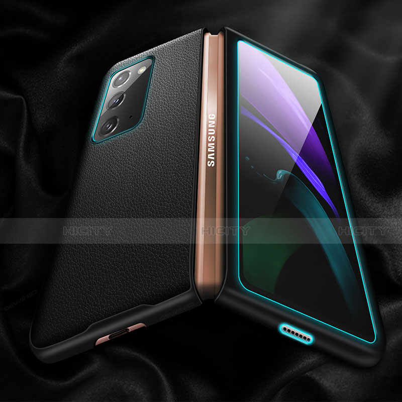 Handyhülle Hülle Luxus Leder Schutzhülle für Samsung Galaxy Z Fold2 5G groß