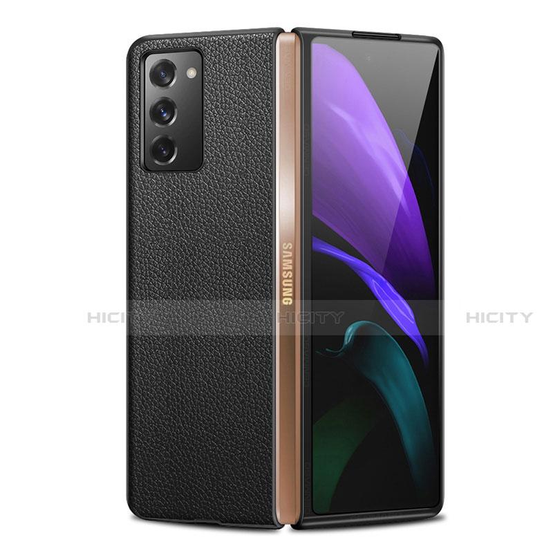 Handyhülle Hülle Luxus Leder Schutzhülle für Samsung Galaxy Z Fold2 5G Schwarz Plus