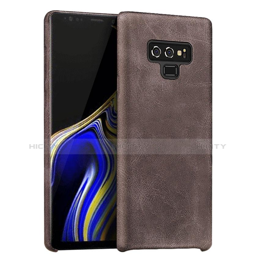Handyhülle Hülle Luxus Leder Schutzhülle L01 für Samsung Galaxy Note 9 Braun Plus