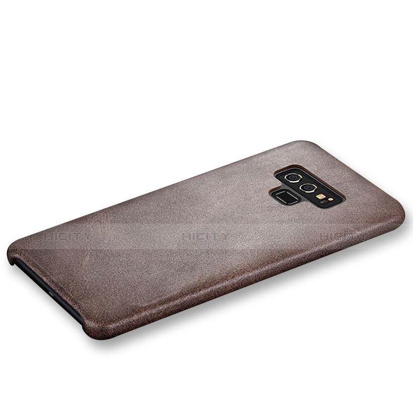 Handyhülle Hülle Luxus Leder Schutzhülle L01 für Samsung Galaxy Note 9 Braun groß