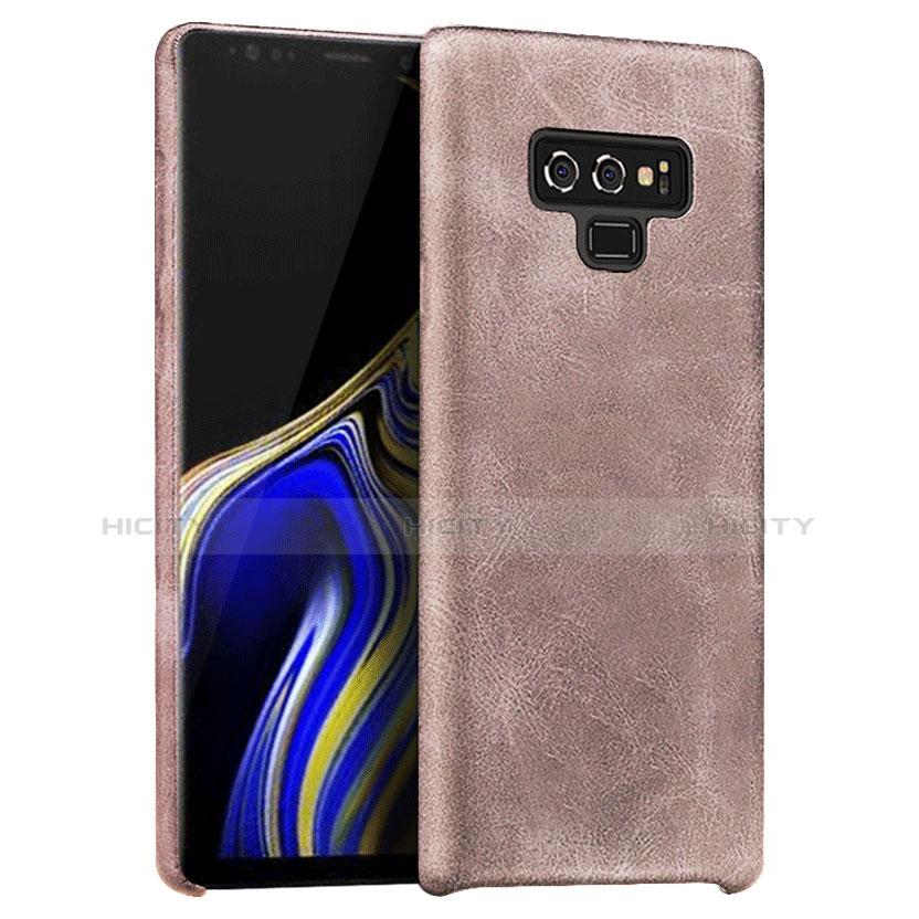 Handyhülle Hülle Luxus Leder Schutzhülle L01 für Samsung Galaxy Note 9 Rosegold Plus
