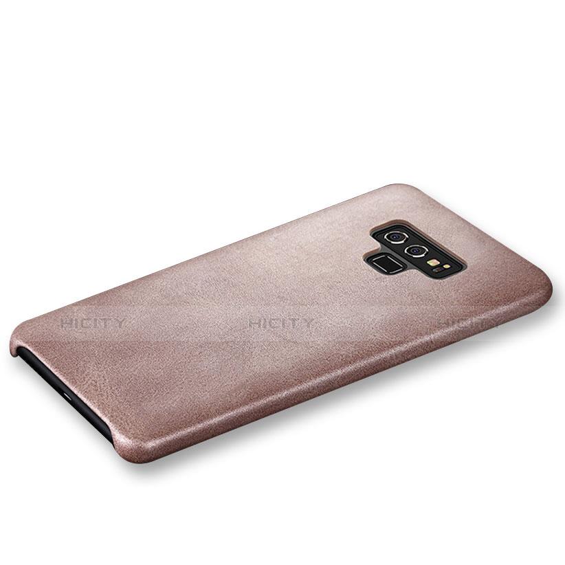 Handyhülle Hülle Luxus Leder Schutzhülle L01 für Samsung Galaxy Note 9 Rosegold groß