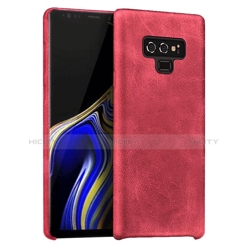 Handyhülle Hülle Luxus Leder Schutzhülle L01 für Samsung Galaxy Note 9 Rot Plus