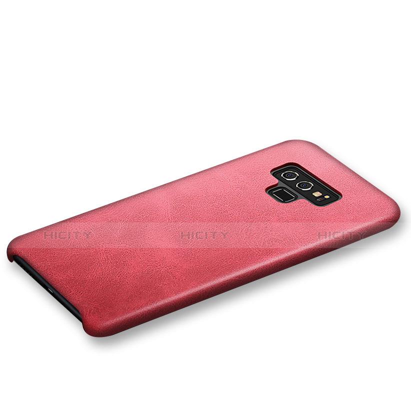 Handyhülle Hülle Luxus Leder Schutzhülle L01 für Samsung Galaxy Note 9 Rot groß