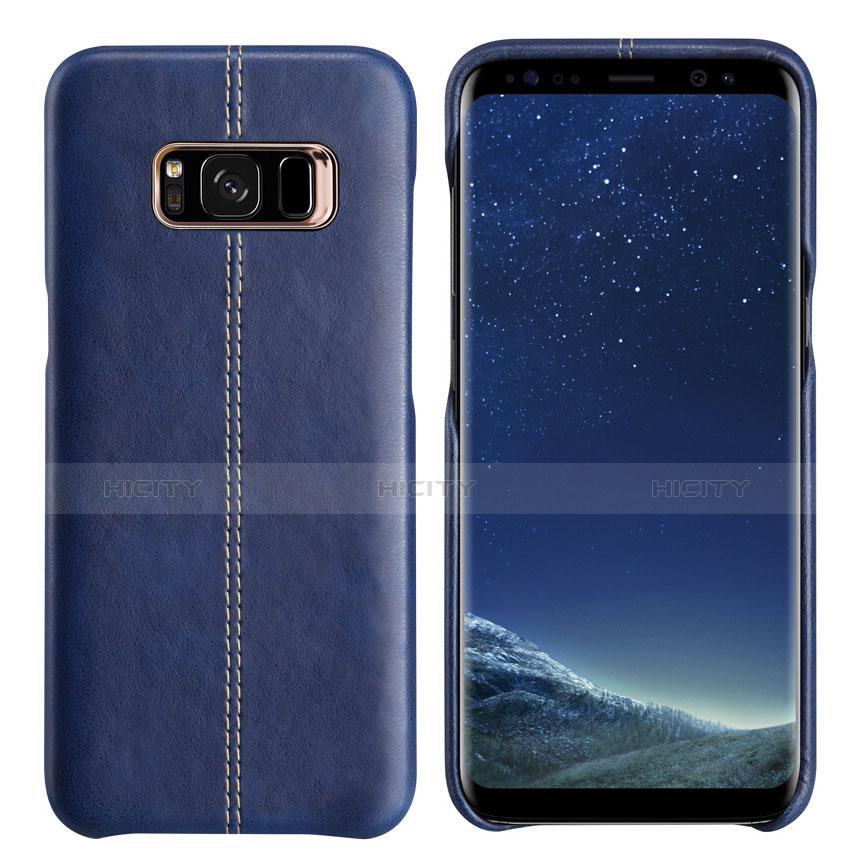 Handyhülle Hülle Luxus Leder Schutzhülle L01 für Samsung Galaxy S8 Blau Plus