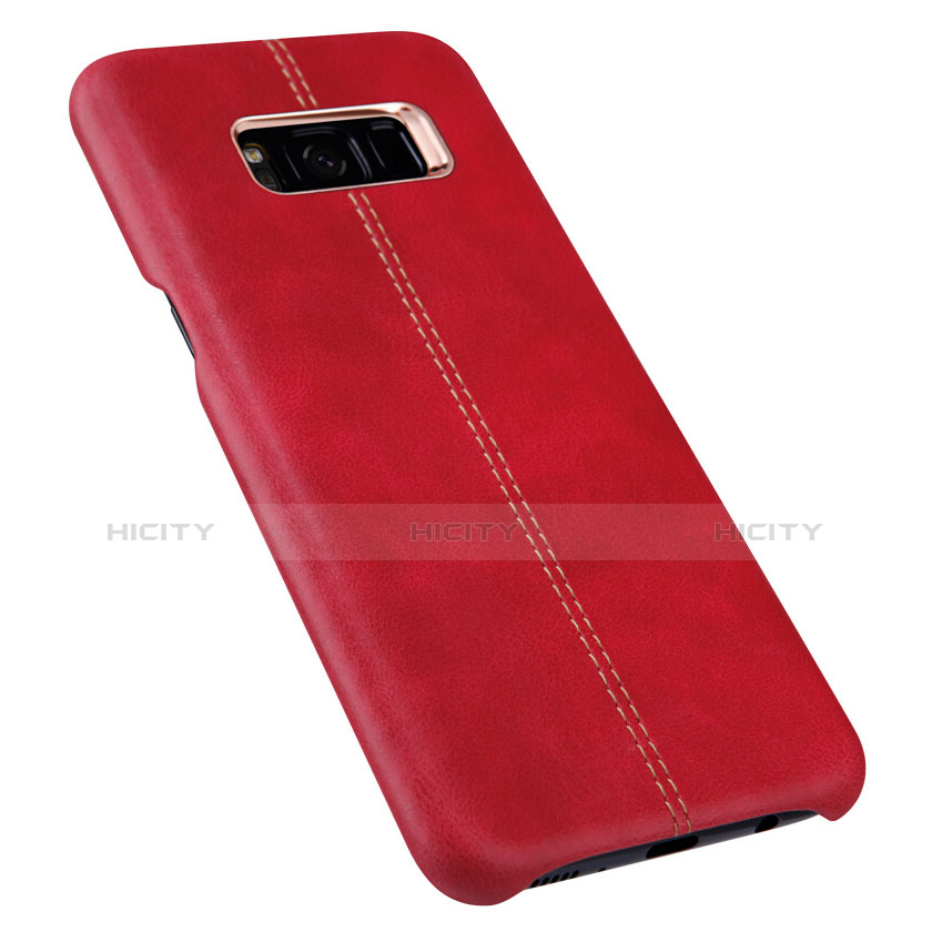 Handyhülle Hülle Luxus Leder Schutzhülle L01 für Samsung Galaxy S8 Plus Rot groß